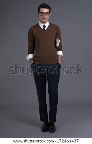 retro fifties fashion man with...