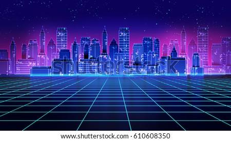 retro futuristic skyscraper...