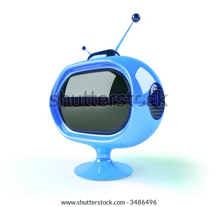 Retro futuristic tv