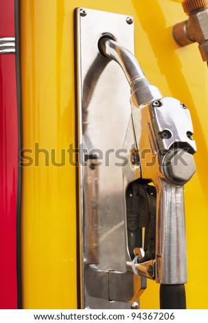 retro gas station pump ,yellow color