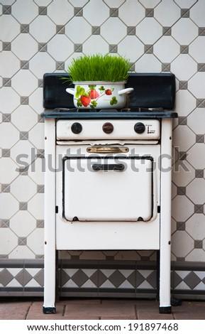 retro gas stove  kitchen...