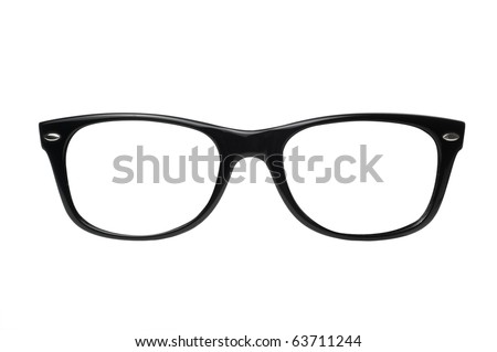 Retro glasses isolated on a white