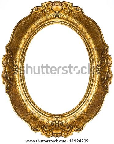 Retro gold frame - Oval