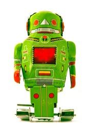 retro green robot toy