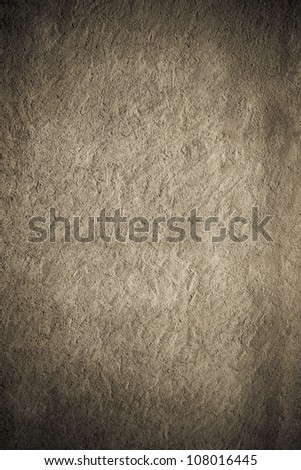 Retro grey painted plaster concrete wall background. Dark edged