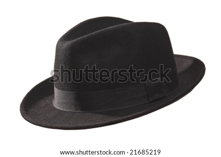Retro hat isolated against white background