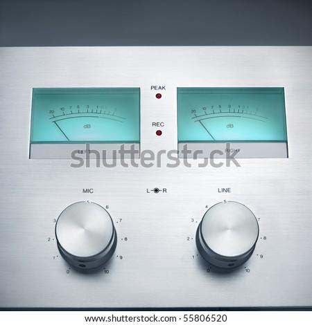 Retro Hi-Fi recorder controls.
