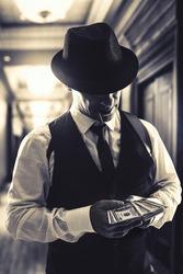 retro italian mafia ganster in 1930's
