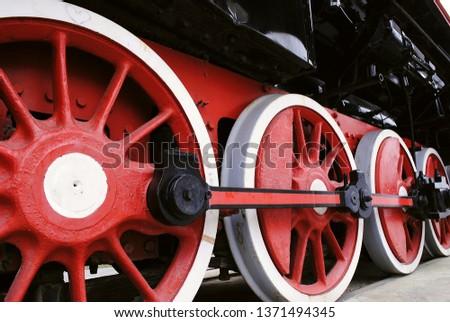 retro locomotive retro red  #1371494345