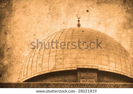 Retro look of the Orient - Jerusalem in Israel
