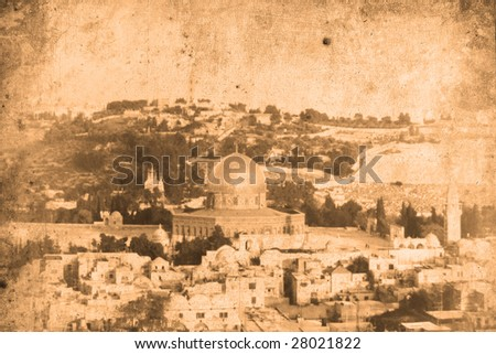 Retro look of the Orient - Jerusalem in Israel Stock photo ©