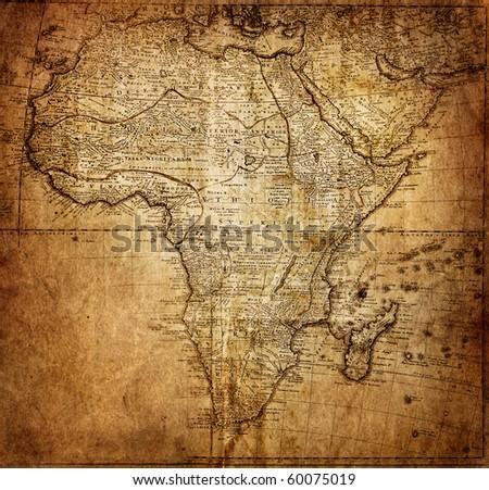 retro map, 18 century (Africa)