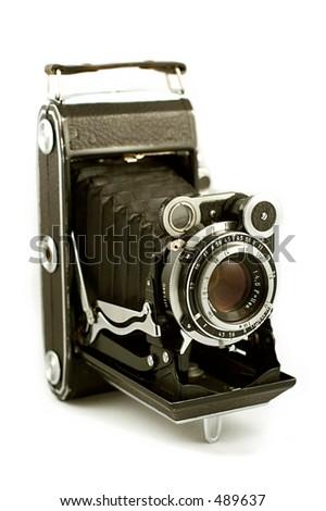 Câmera média do formato de Retro