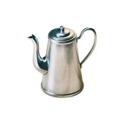 Retro metallic coffee kettle isolated on white background