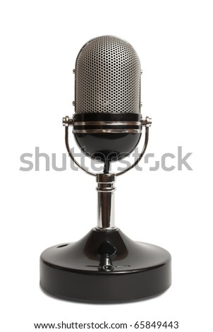 Retro microphone isolated on a white