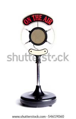 retro microphone isolated on...