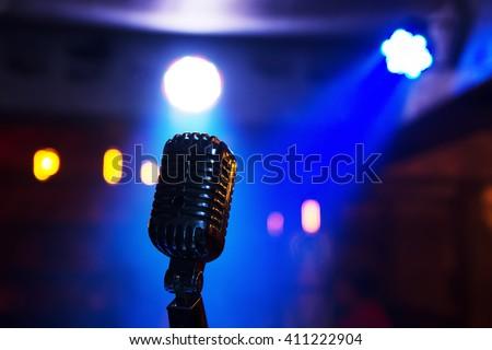 Retro microphone on stage retro microphone music retro microphone music retro microphone music retro microphone music retro microphone music retro microphone music retro microphone music retro music