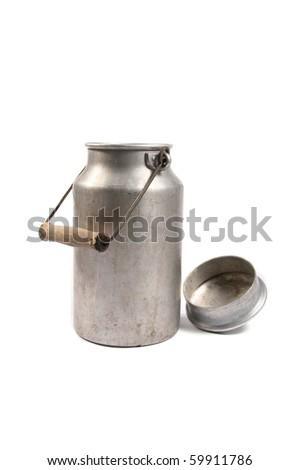 retro milk can - stock photo