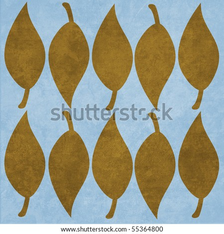 Retro Modern Leaf Pattern Texture Background