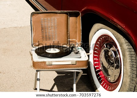 Retro music and cars