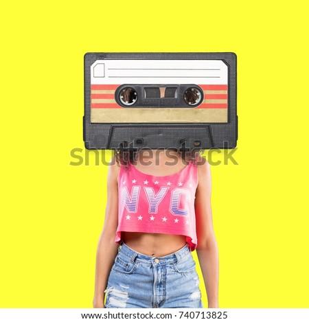 Retro music concept. #740713825