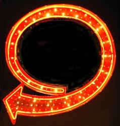Retro Neon Arrow Sign