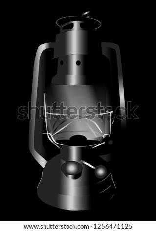 retro oil lamp #1256471125