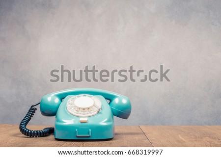 retro old mint green telephone...