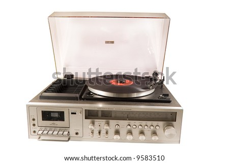 Retro old stereo set