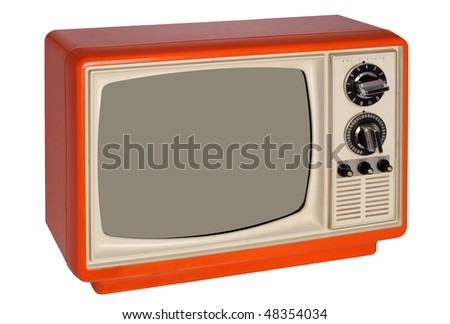 Retro orange TV set