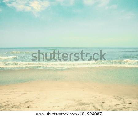 Retro Pastel Beach
