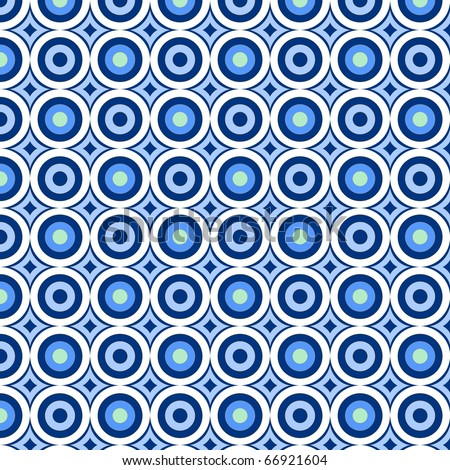 retro pattern with blue circles