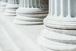 Retro Photo Of Composite Greek Style Columns