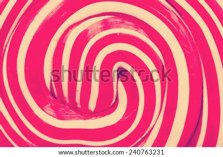 Retro Photo Of Lollipop Abstract Closeup