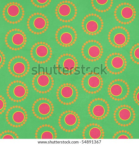 Retro Pink and Green Dotted Background