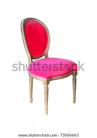 Retro pink chair isolated with clipping path included