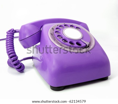 Retro Purple Phone Retro Purple Phone Stock Photo