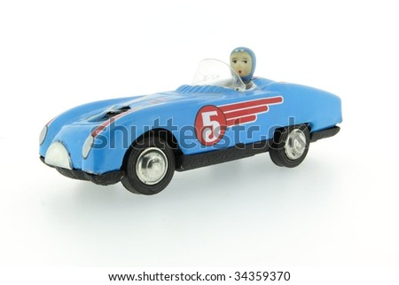 retro race car with number 5 five