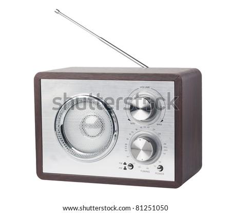 Retro radio, isolated on white Stock photo ©