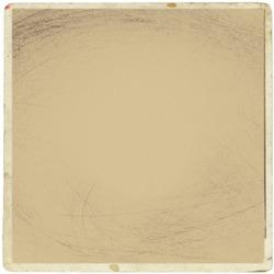 Retro realistic square photo card isolated on white background. Template photo design, polaroid frame