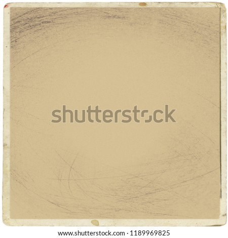 Retro realistic square photo card isolated on white background. Template photo design, polaroid frame