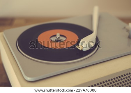 Retro record player from the sixties #229478380