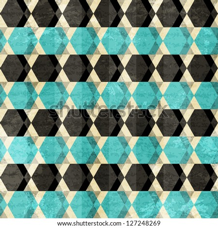retro rhombus seamless pattern (raster version)