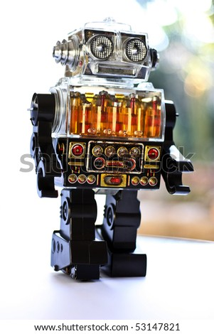 Retro Robot in bright backdrop