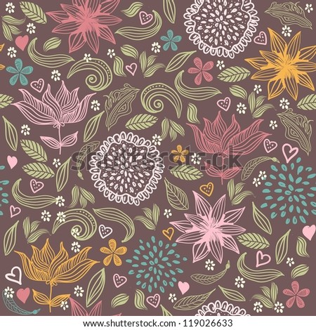 retro seamless floral pattern