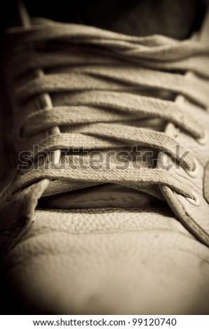 Retro shoes - stock photo