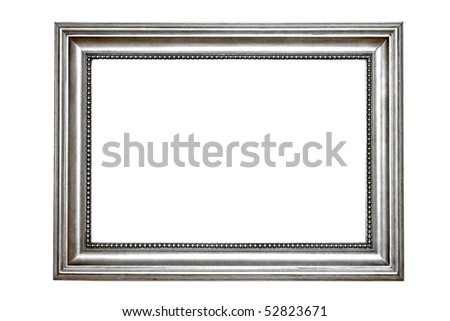 Retro silver frame with clipping path included