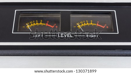 Retro sound level meter