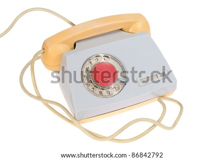 retro soviet phone isolated on a white