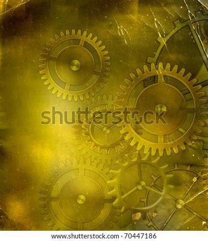 retro steampunk mechanism